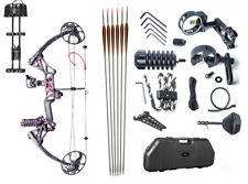 TOPOINT M1 15-70LB COMPOUND BOW & ARROW HUNTING TARGET ARCHERY Muddy Girl Color