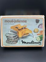 Moulinex 445 - Mouli-Julienne - 5 Grating Discs **Retro** In Box + Instructions