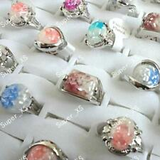 5pcs  Abalone Shell silver plated rings wholesale jewelry lots New free shipping