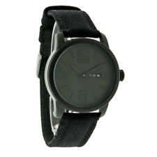 Citizen Eco-Drive Mens Black Ion Finish Day/DateCanvas Strap Watch BM8475-00F