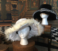Fancy & Flexible Set of 2 Black & White Hats from Elope Dress up Costume