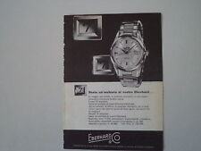 advertising Pubblicità 1961 OROLOGIO EBERHARD SCAFODAT