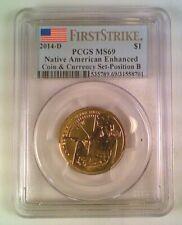 2014-D Sacajawea Native American Dollar Enhanced Coin Currency PCGS MS69
