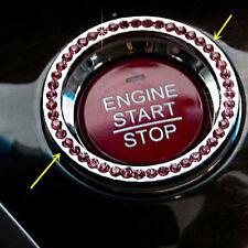 1pc Hot Car key VIP Pink Button Start Diamond BLING Decorative starter ring mh