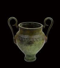 Amphora vase bronze Athena handle carved Ancient Greek artifact replica