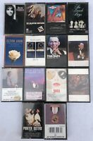 Lot Of 14 Cassette Tapes - Rock Easy Listening - Frank Sinatra, Elton John, etc.