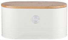 Typhoon Living Cream Stainless Steel Bread Bin Kitchen Loaf Storage Container