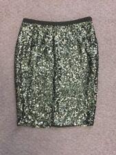 Gudi Brand Olive Mint Green Sequin Slim Knee Length Pencil Skirt Size 8