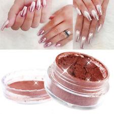 2G/Box Rose Gold Nails Power Mirror Chrome Effect Pigment Nail Art DIY Manicure