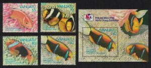 Vanuatu Anemonefish 'Philakorea 94' Fish 4v+MS 1994 MNH SG#674-MS678