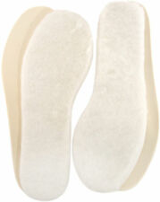 Lambland 2 Pairs of Ladies - Mens Genuine Lambswool Insoles With Cushioned Soles UK 8
