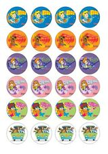 24 Scooby Doo Wafer / Rice Paper Cupcake Topper Edible Fairy Cake Bun Toppers