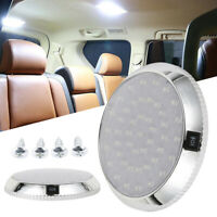 12V 46 LED Car Interior Lights Camper Van Boat Caravan Roof Doom Light White UK