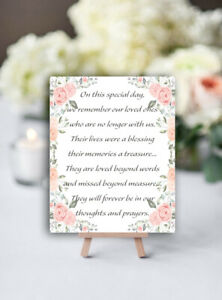 Wedding Memorial -  Remember your LOVED ONES Table top SIGN