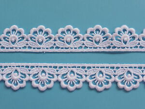 """The Place For Lace - Quality Bright White Guipure Lace Trim 1""""/2.5cm TOP SELLER"""