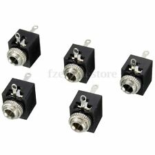 5 Pcs 3.5mm Earphone PCB Panel Mount Stereo Jack Female Socket Connector 3 Pin