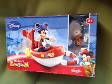 famosa disney mickey mouse toontown sos rescue boat very rare new and sealed