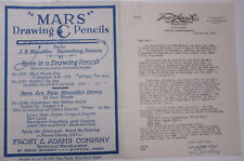 1926 Lamson Goodnow Frost Adams Co Boston MA Blue Print Paper Ephemera L494H