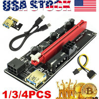 VER009S PCI-E Riser Card Adapter PCIe 1x to16x USB 3.0 Data Cable Bitcoin Mining