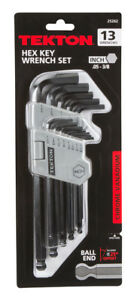 TEKTON Long Arm Ball End Hex Key Wrench Set Inch13-Piece | 25262