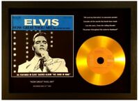 ELVIS PRESLEY 'HOW GREAT THOU ART' SIGNED GOLD CD DISC COLLECTABLE MEMORABILIA