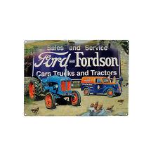 Plaque en Métal 15x20 Ford Rétro Vintage Publicitaire Tracteur Ferme Agriculteur