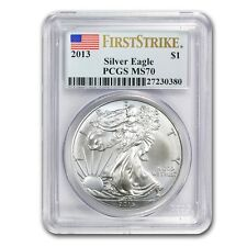 New 2013 American Silver Eagle 1oz First Strike PCGS MS70 Graded Slab Coin