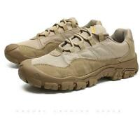 Mens Lace up Low top Casual Hiking Shoes Sports Outdoor Desert Ankle Boots Plus