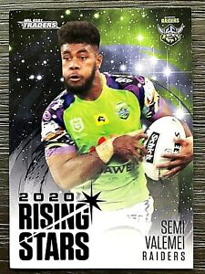 2021 NRL TRADERS '2020 RISING STARS' TRADING CARD - SEMI VALEMEI/RAIDERS