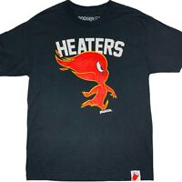 Booger Kids Grit & Grime Heaters Flame Character Mens Black T-Shirt Size Large