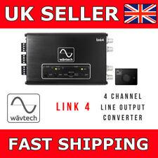 Wavtech 4 CH Line Output Converter Line Driver Speaker 2 RCA Adaptor Link 4 LOC