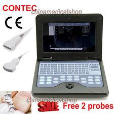 USA FedEx Portable laptop Digital Ultrasound scanner 2 probes Convex & Linear