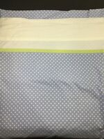 Twin Flat Bed Sheet Purple White Polka Dot Lime Green Craft Fabric Cutter Cloth