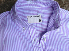 Rag And Bone Women's Lavender Striped Shirt Size Small