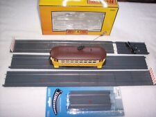 "MTH RailKing Maket Street Bump-N-Go Trolley 30-5141 & 80"" of Super Streets"