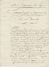 Général GROBON autographe 1811 / Tué par les Royalistes en 1815