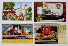 4 POST CARDS ~ GOLDEN GATE INTERNATIONAL EXPO ~ EXHIBITS : WELLS FARGO+++ UNUSED