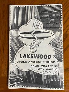 RARE Lakewood Cycle & Surf Ship Catalogue 6912