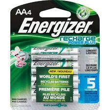 4/Pack AA Energizer Rechargeable Batteries Power Plus NiMH 1.2 Vcc FREE SHIPPING