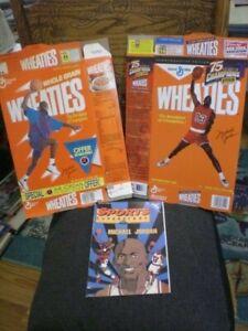 1989 Rare Michael Jordan flat Wheaties Box and 1999 Champions Box w/Comic Book