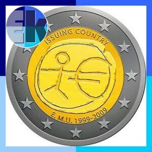 Ek // 2 euro Commémorative 2009 10 Ans EMU # Pièce Nueve: Sélectionnez une Pays: