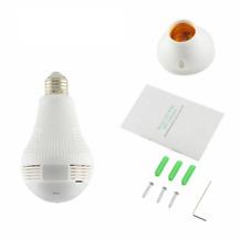360 Degree LED Light Wireless Panoramic Home Security WiFi CCTV Fisheye Bulb