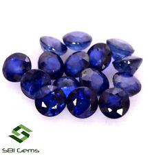 Natural Blue Sapphire Round Cut 3.25 mm Lot 15 Pcs 3.12 Cts Faceted Gemstones