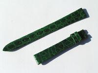 12mm Chopard Uhren Armband Ersatzband Lederarmband Croco grün 65/105 neu C12-05