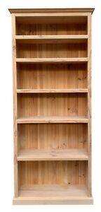 Bookcase Solid Raw Clear Pine