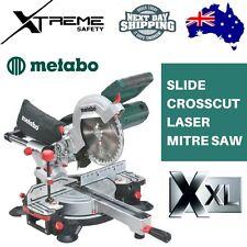"""Metabo 216mm (8-1/2"""") Slide Crosscut Laser Mitre Saw 1350W"""
