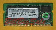 IBM 512MB X1 SODIMM 144PIN PC133 memory X22 X23 X24 X30 A30 R30 MY RAM 04