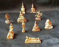 *TOP: feinster SET von ZEHN !! unterschiedlichen, ANTIKEN Buddha-Darstellungen*