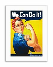 SECOND WORLD WE CAN DO IT WOMEN USA Poster Vintage Military Canvas art Prints