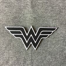 Wonder Woman Symbol Logo Iron On Patch Embroidery Patches (Black With White)